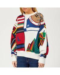Polo Ralph Lauren Graphic Print Crew Neck Sweatshirt - Multicolour