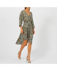 Diane von Furstenberg Asymmetric Hem Dress Mini - Green