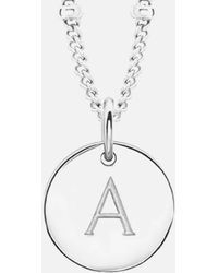 Missoma - Women's Initial Charm Necklace A - Lyst