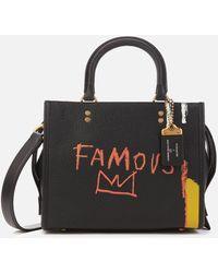 COACH Coach X Basquiat Famous Crown Rogue Bag 25 - Black