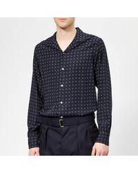 Officine Generale Dario 10 Dots Shirt - Blue
