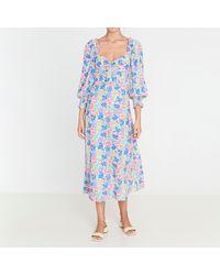 Faithfull The Brand Mathilde Midi Dress - Blue