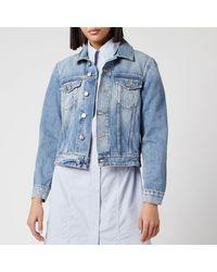 Ganni Washed Denim Jacket - Blue