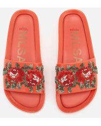 Melissa - Women's Flower Pixel Beach Slide Sandals - Lyst