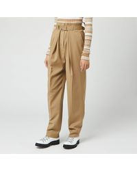 JW Anderson Belted Tapered Pants - Natural
