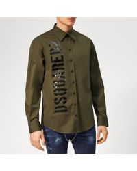 DSquared² - Military Shirt - Lyst