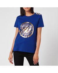 Balmain - 3 Button Metallic Coin T-shirt - Lyst