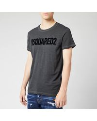 DSquared² Crewneck Logo T-shirt - Gray