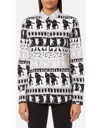 PS by Paul Smith | Women's Dancing Cats Cotton Shirt | Lyst
