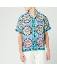 JW Anderson Mystic Paisley Short Sleeve Shirt - Blue