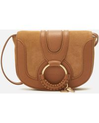 See By Chloé Hana Mini Crossbody Bag In Caramello Suede And Calfskin - Brown