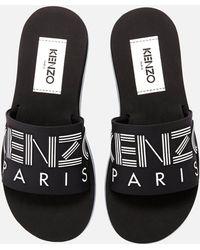 KENZO Papaya Slide Sandals - Black