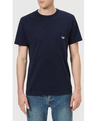 Maison Kitsuné - Men's Tricolor Fox Pocket Tshirt - Lyst