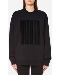 Alexander Wang | Oversized Hoodie With Patch | Lyst