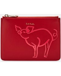 Paul Smith Logo Pouch - Red