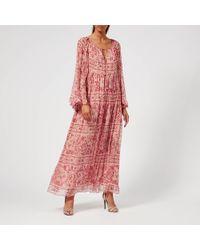 Zimmermann Castile Flared Sleeve Dress - Multicolour