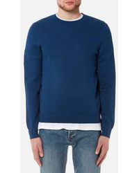 A.P.C. - Men's Pull Cia Reverse Logo Knitted Jumper - Lyst