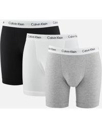 CALVIN KLEIN 205W39NYC - Men's 3 Pack Boxer Briefs - Lyst