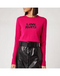 Bella Freud Love Hurts Jumper - Pink