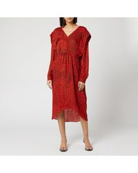 Preen By Thornton Bregazzi Dotted Jacquard Eve Dress - Red
