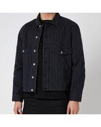 YMC Garment Dye Pinstripe Twill Pinkley Jacket - Black