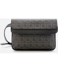 Ferragamo Branded Belt Bag Grey