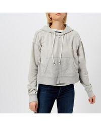 Polo Ralph Lauren | Women's Oversized Cropped Zip Up Hoody | Lyst