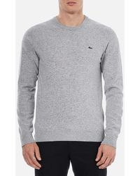 Lacoste - Basic Crew Knitted Jumper - Lyst