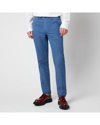 Canali Cotton Silk Stretch Chinos - Blue