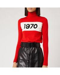 Bella Freud 1970 Graphic Pullover Jumper - Red