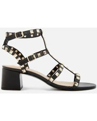Ash - Women's Rolling Studded Blocked Heeled Sandals - Lyst