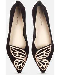 Sophia Webster Butterfly Pointed Flats - Black