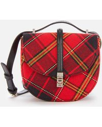 Vivienne Westwood Special Sofia Mini Saddle Bag - Red