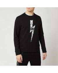 Neil Barrett Graffiti Bolt Sweatshirt - Black
