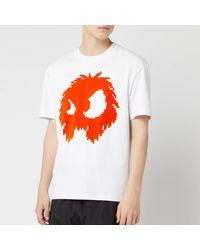 McQ Dropped Shoulder Monster T-shirt - White