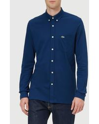 Lacoste - Men's Pique Long Sleeve Shirt - Lyst