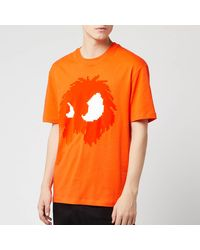 McQ Dropped Shoulder Monster T-shirt - Orange