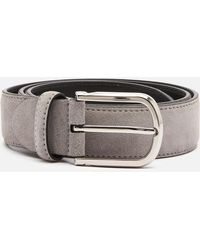 Canali Suede Belt - Gray