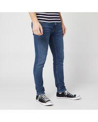 Nudie Jeans Lin Skinny Jeans - Blue