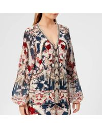 Camilla - Women's Peasant Lace Blouse - Lyst