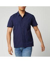 YMC Cats Meow Shirt - Blue