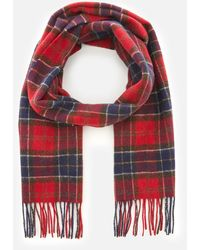 Barbour Tartan Lambswool Scarf - Red