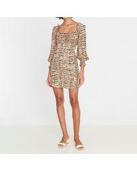 Faithfull The Brand Ira Mini Dress - Brown