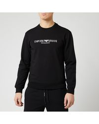 Emporio Armani Large Logo Sweatshirt - Black