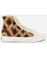 Goodnews Moroccan Palm Hi-top Trainers - Brown