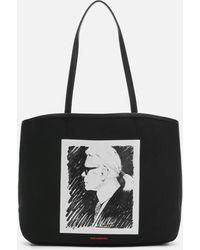 Karl Lagerfeld Karl Legend Canvas Tote Bag - Black
