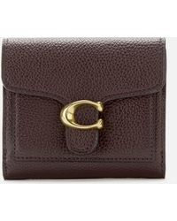 COACH Polished Pebble Tabby Small Wallet - Brown
