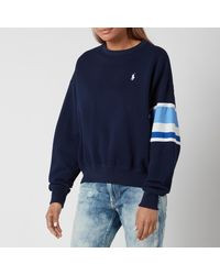 Polo Ralph Lauren Large Polo Logo Relaxed Fit Sweatshirt - Blue