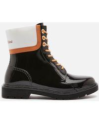 See By Chloé Florrie Pvc Rain Boots - Black