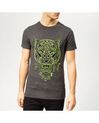 Philipp Plein Tiger T-shirt - Gray